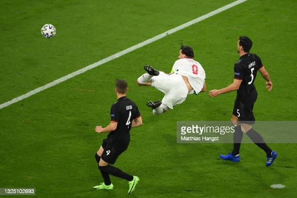 Adam Szalai of Hungary scores their side's first goal during the UEFA Euro 2020 Championship Group F match between Germany and Hungary at Allianz...