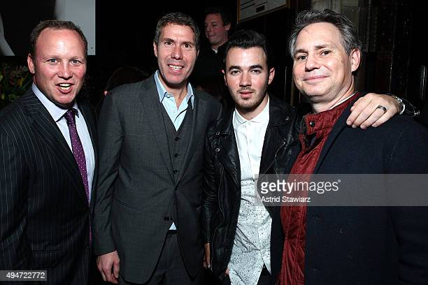 Adam Taetle Rocco Basile Kevin Jonas and Jason Binn attend as Jason Binn Nicole Vecchiarelli And Kevin Ryan Celebrate DuJour Magazine's Special...