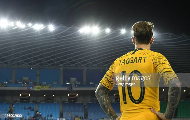 Adam Taggart of Australia potriat shot after wining Chinese Taipei during the FIFA World Cup Qatar 2022 and AFC Asian Cup China 2023 Preliminary...