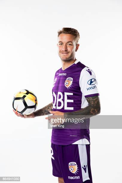 Adam Taggart of the Perth Glory poses during the ALeague Media Day on September 26 2017 in Sydney Australia