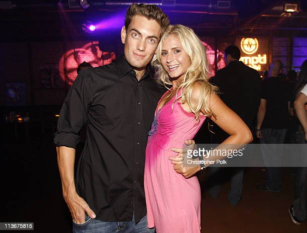 Adam Taki and Anastasia Ashley during 2006 Blender/Oakley X Games Kick Off Party Inside at Element in Hollywood California United States