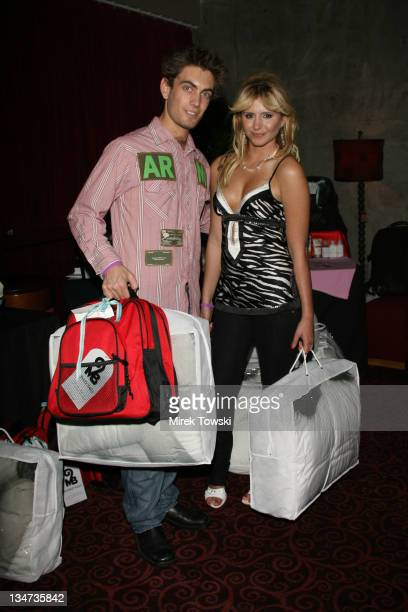 Adam Taki and Anastasia Ashley during 2006 Celebrity Rock 'n Bowl with gift bags created by Klein Creative Communications at 'Lucky Strike Lanes' in...