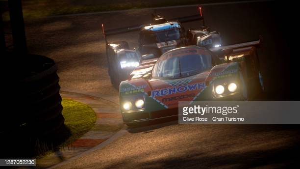 Adam Tapai of Hungary driving the Mazda 787b during race 2 of the FIA Gran Turismo Championship EMEA Regional Finals 2020 run on the Monza circuit on...