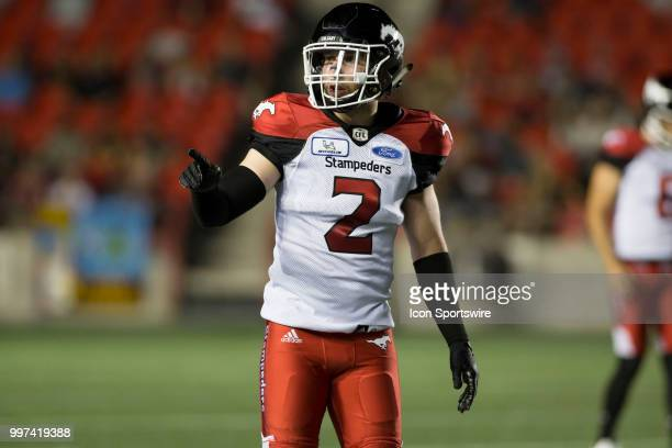 Adam Thibault of the Calgary Stampeders in a regular season Canadian Football League game played at TD Place Stadium in Ottawa. The Calgary...