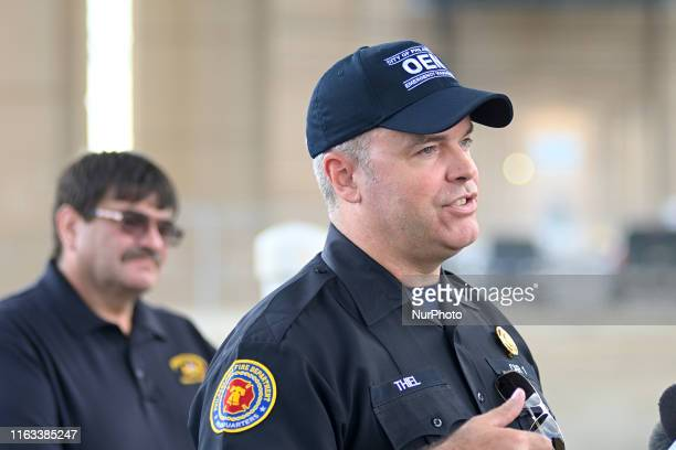 Adam Thiel Fire Commissioner and OEM director gives updates on the ongoing emergency work after the June explosion at Philadelphia Energy Solutions...