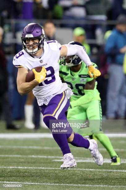 Adam Thielen of the Minnesota Vikings in action during the game against the  Seattle Seahawks at ef8e95a26