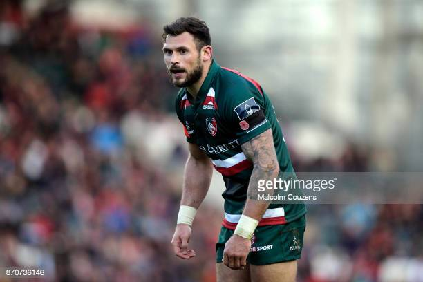Adam Thompstone of Leicester Tigers during the AngloWelsh Cup tie between Leicester Tigers and Gloucester Rugby at Welford Road on November 4 2017 in...