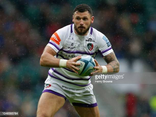 Adam Thompstone of Leicester Tigers during the Gallagher Premiership Rugby match between Northampton Saints and Leicester Tigers at Twickenham...