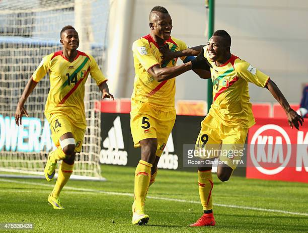 Adam Traore of Mali celebrates after scoring a goal during the FIFA U20 World Cup New Zealand 2015 Group D match between Mexico and Mali at Otago...