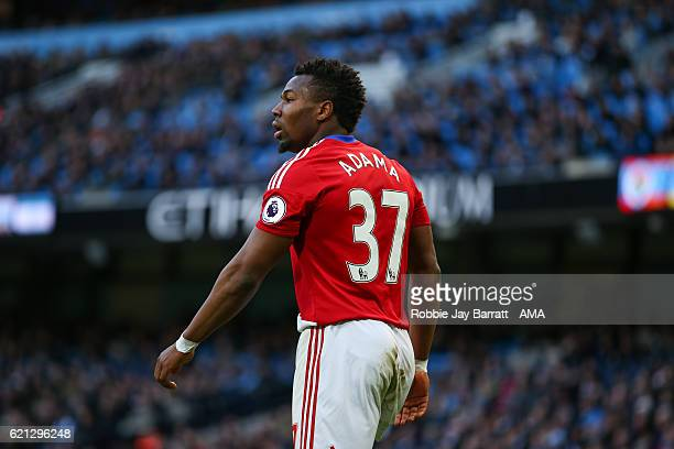 Adam Traore of Middlesbrough during the Premier League match between Manchester City and Middlesbrough at Etihad Stadium on November 5 2016 in...