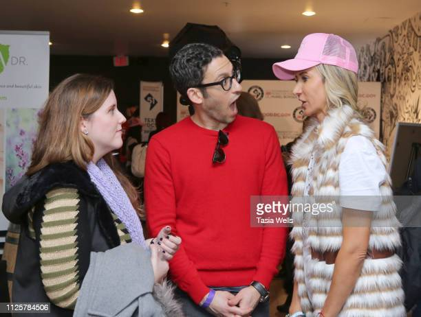 Adam Tsekhman Lady Victoria Harvey and guest attend Debbie Durkin's Ecoluxe Lounge Park City at Tekila Mexican Grill Cantina on January 26 2019 in...