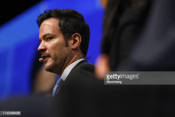 Adam Vigna, chief investment officer and managing partner of Sagard Capital Partners LP, speaks during the Skybridge Alternatives conference in Las...