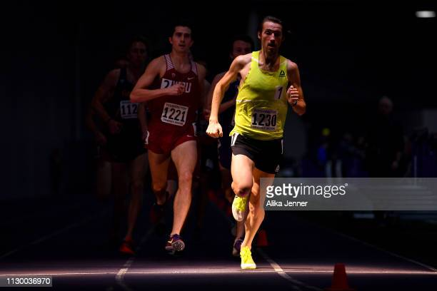 Adam Visokay of Reebok competes in the men's one mile run at Dempsey Indoor Center on February 15 2019 in Seattle Washington