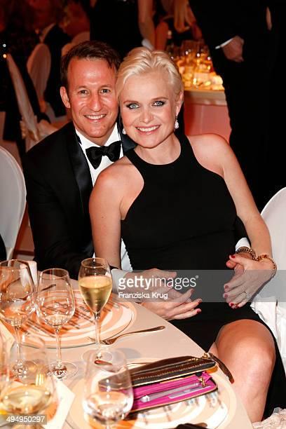 Adam Waldman and Barbara Sturm attend the Rosenball 2014 on May 31, 2014 in Berlin, Germany.