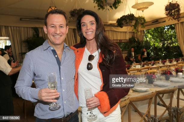 Adam Waldman and Donna Baldwin during the NetAPorter lunch at hotel Chateau Marmont on February 24 2017 in Los Angeles California