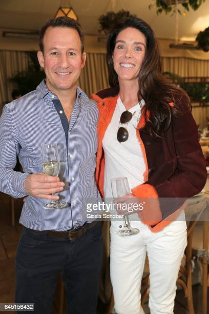 Adam Waldman and Donna Baldwin during the Net-A-Porter lunch at hotel Chateau Marmont on February 24, 2017 in Los Angeles, California.