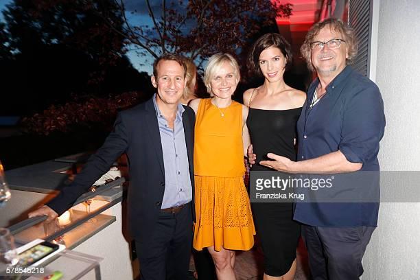 Adam Waldman Barbara Sturm Julia Trainer and Martin Krug attend the 'Dr Barbara Sturm NetAPorter' Dinner Party on July 21 2016 in Munich Germany