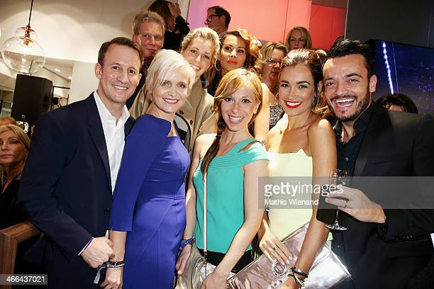 Adam Waldman Barbara Sturm Tina Bordihn Guelcan Kamps JanaIna Zarrella and Giovanni Zarrella attend the Laurel store opening on February 1 2014 in...