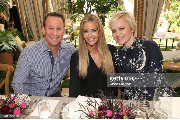 Adam Waldman Denise Richards and Dr Barbara Sturm during the NetAPorter lunch at hotel Chateau Marmont on February 24 2017 in Los Angeles California