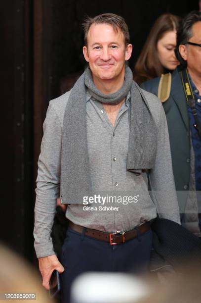 Adam Waldman lawyer of Johnny Depp after the Minamata photo call during the 70th Berlinale International Film Festival Berlin at Grand Hyatt Hotel on...