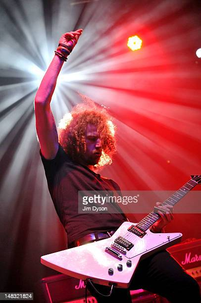 Adam Wardle of Red White and Blues performs live on stage during the first day of Hard Rock Calling at Hyde Park on July 13 2012 in London England