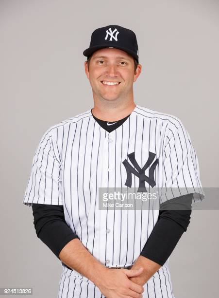 Adam Warren of the New York Yankees poses during Photo Day on Wednesday February 21 2018 at George M Steinbrenner Field in Tampa Florida