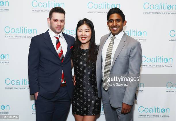 Adam Wax Erica Yal and Mike Gallagher attend the Coalition Against Trafficking In Women's 2017 Gala Game Change A Night of Celebration at Tribeca...