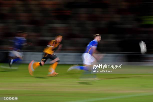 Adam Webster of Brighton & Hove Albion in action during the FA Cup Third Round match between Newport County and Brighton And Hove Albion at Rodney...
