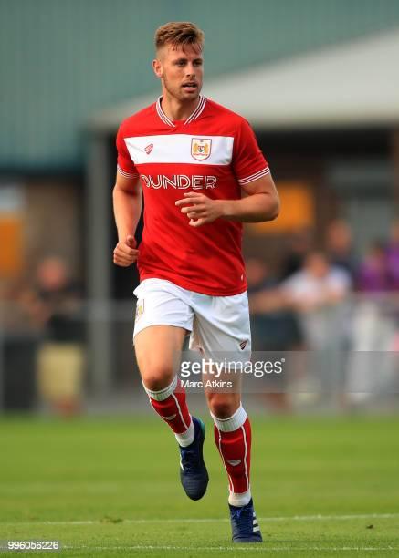 Adam Webster of Bristol City during the PreSeason Friendly between Bristol City v Cheltenham Town on July 10 2018 in WestonSuperMare England