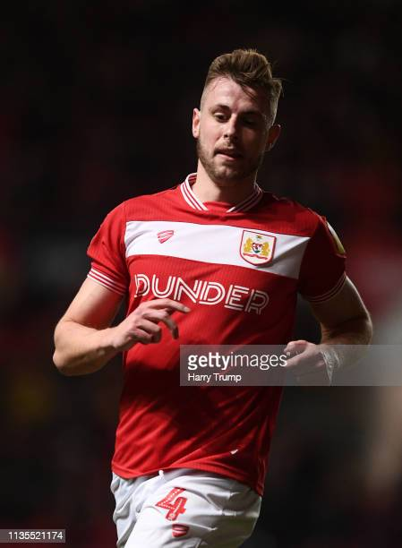 Adam Webster of Bristol City during the Sky Bet Championship match between Bristol City and Ipswich Town at Ashton Gate on March 12 2019 in Bristol...