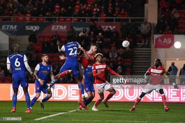 Adam Webster of Bristol City scores his sides first goal during the Sky Bet Championship match between Bristol City and Ipswich Town at Ashton Gate...
