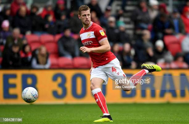 Adam Webster of Bristol City with the ball during the Sky Bet Championship match between Bristol City and Stoke City at Ashton Gate on October 27...