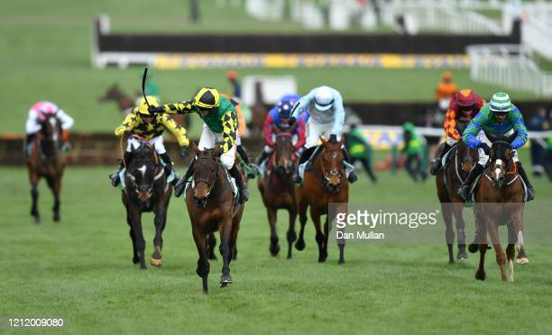Adam Wedge riding Lisnagar Oscar on their way to winning the Paddy Power Stayers' Hurdle at Cheltenham Racecourse on March 12, 2020 in Cheltenham,...