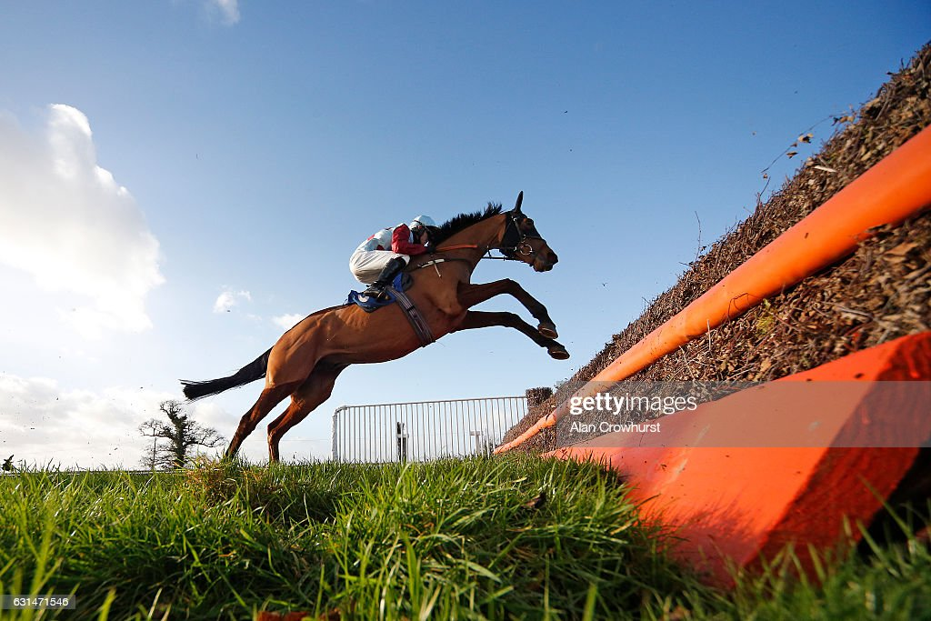 Adam Wedge riding Red Devil Lads in action at Taunton Racecourse on January 11, 2017 in Taunton, England.