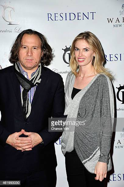 Adam Weiss and Angela Trostle attend Resident Magazine's The New Year Edition Cover Launch Party With Countess Luann De Lesseps at Murals on 54 at...