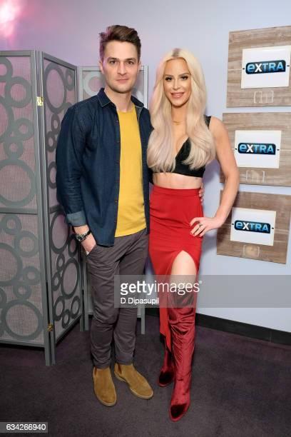 Adam Wescott and Gigi Gorgeous visit 'Extra' on February 8 2017 in New York City