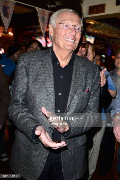 Adam West attends the Launch Party for the 'Family Guy' Game at the Happy Ending Bar Restaurant on April 2 2014 in Hollywood California
