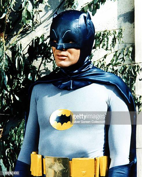 Adam West US actor in costume in a publicity still issued for the television series 'Batman' USA circa 1966 The television series featuring DC Comics...