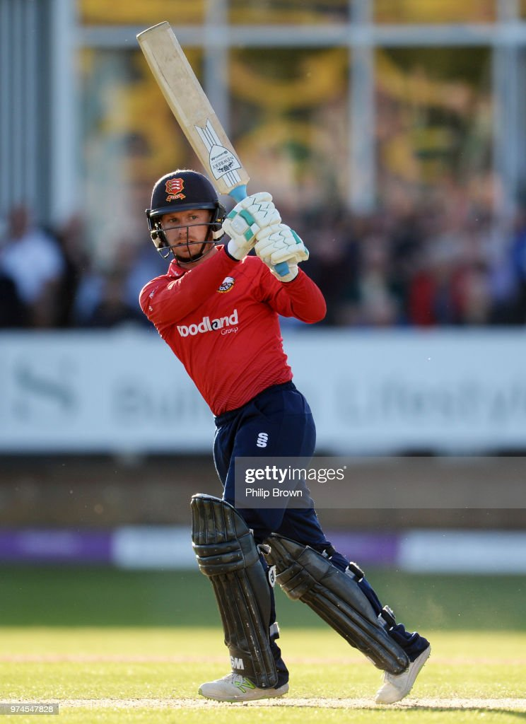 Adam Wheater of Essex Eagles bats during the Royal London One-Day Cup match between Essex Eagles and Yorkshire Vikings at the Cloudfm County Ground on June 14, 2018 in Chelmsford, England.