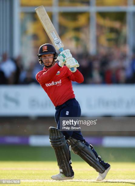 Adam Wheater of Essex Eagles bats during the Royal London OneDay Cup match between Essex Eagles and Yorkshire Vikings at the Cloudfm County Ground on...