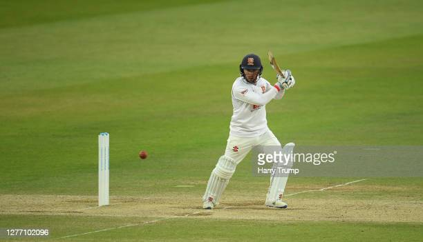 Adam Wheater of Essex plays a shot during Day Five of the Bob Willis Trophy Final match between Somerset and Essex at Lord's Cricket Ground on...