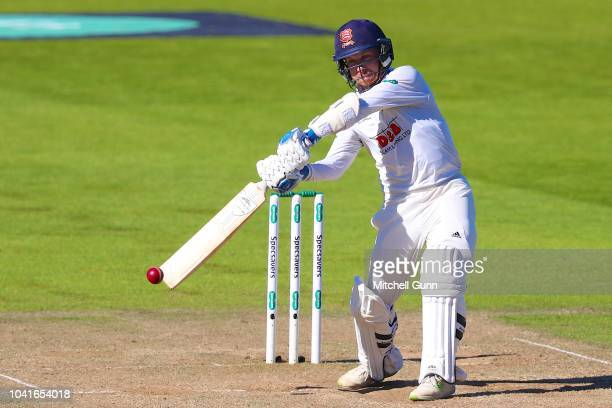 Adam Wheater of Essex plays a shot during day four of the Specsavers County Championship match between Surrey and Essex at The Kia Oval Cricket...