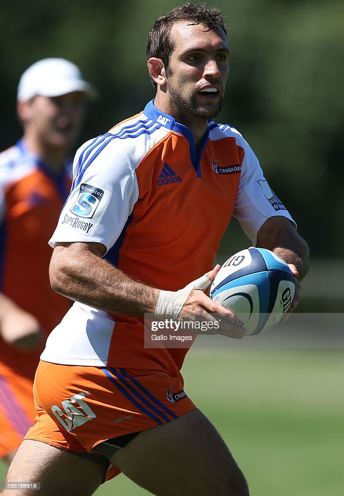 Adam Whitelock during the Crusaders training session at Northwood School on April 01, 2013 in Durban, South Africa.