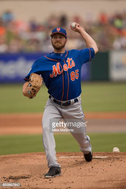 Adam Wilk of the New York Mets in action during the Spring Training game against the Detroit Tigers at Joker Merchant Field on March 12 2017 in...