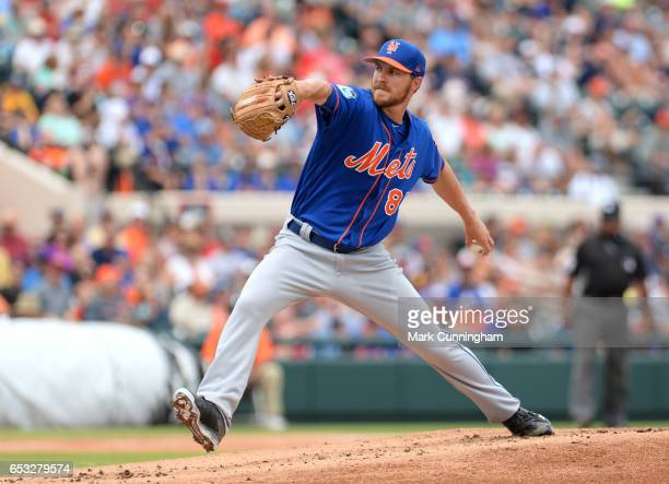 Adam Wilk of the New York Mets pitches during the Spring Training game against the Detroit Tigers at Publix Field at Joker Marchant Stadium on March...