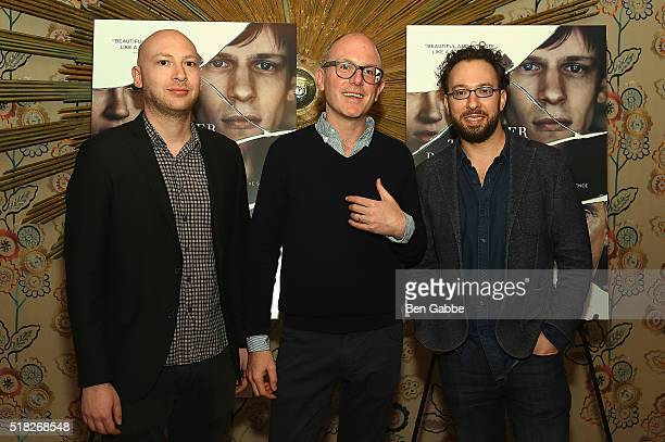 Adam Wilson Editor in Chief of The Paris Review Lorin Stein and Teddy Wayne attend the 'Louder Than Bombs' New York Premiere at Crosby Street Hotel...