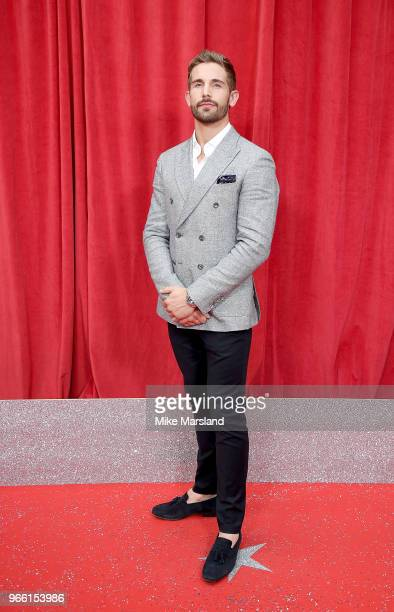 Adam Woodward attends the British Soap Awards 2018 at Hackney Empire on June 2 2018 in London England
