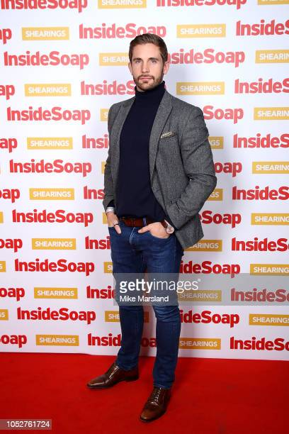 Adam Woodward attends the Inside Soap Awards held at 100 Wardour Street on October 22 2018 in London England