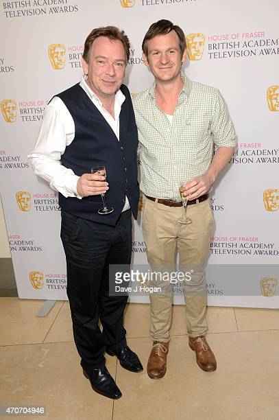 Adam Woodyatt and Dominic TreadwellCollins attend the BAFTA Nominees Party at The Corinthia Hotel on April 22 2015 in London England