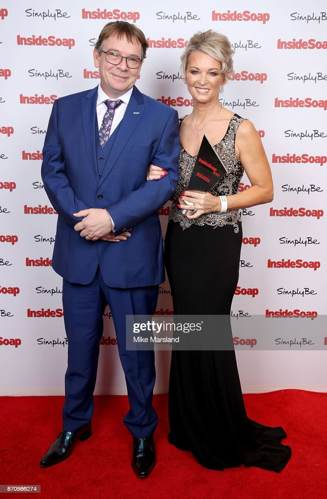 Adam Woodyatt and Gillian Taylforth attend the Inside Soap Awards held at The Hippodrome on November 6, 2017 in London, England.